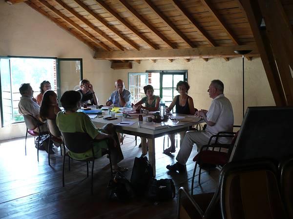 Groupe de stagiaires du Réseau de Logothérapie avec l'intervenant Rolf Kuehn